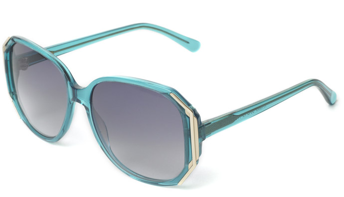 Heidi London, hello the world: 2011 sunglasses - H1005 in aqua-crystal