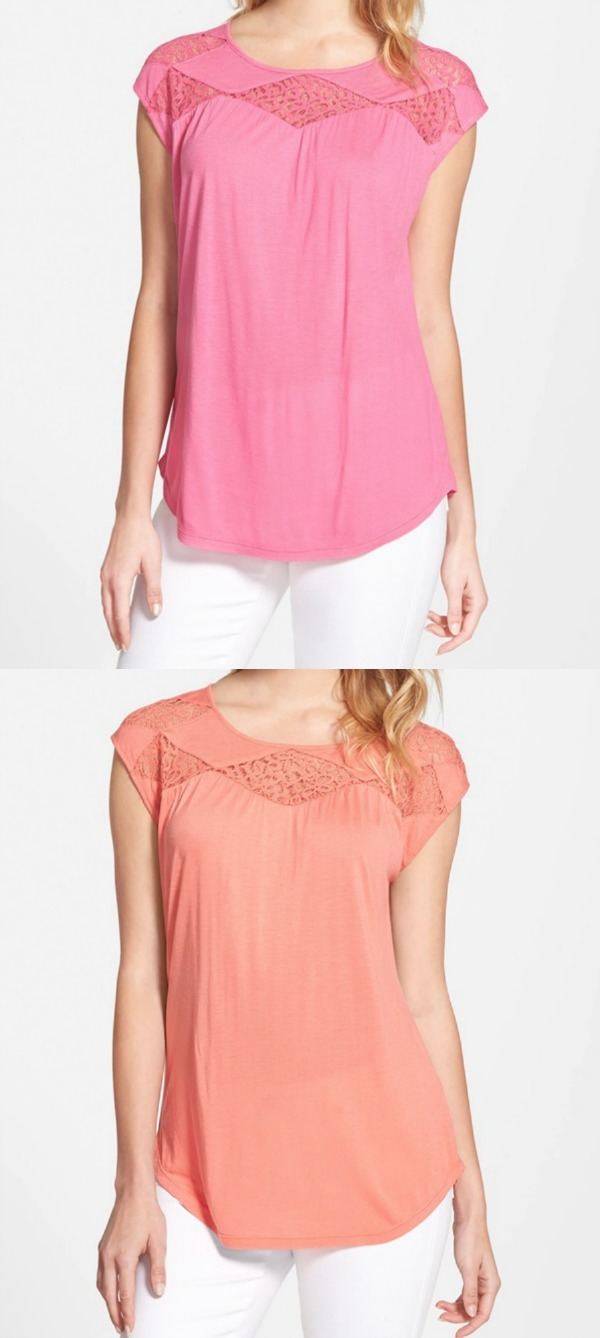 Weekend Steals & Deals | Vince Camuto lace top | Spring/Summer Fashion
