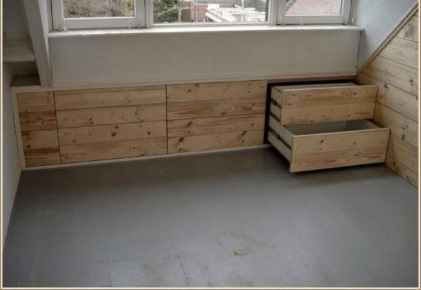 Slaapkamer Onder Het Dak : Zolder slaapkamer schuin dak : Binnenkant Onder het schuine dak