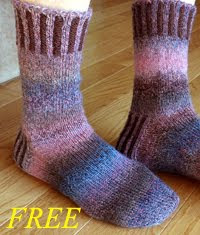 Corduroy Roads Socks Pattern