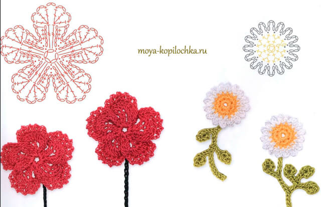 flores tejidas crochet