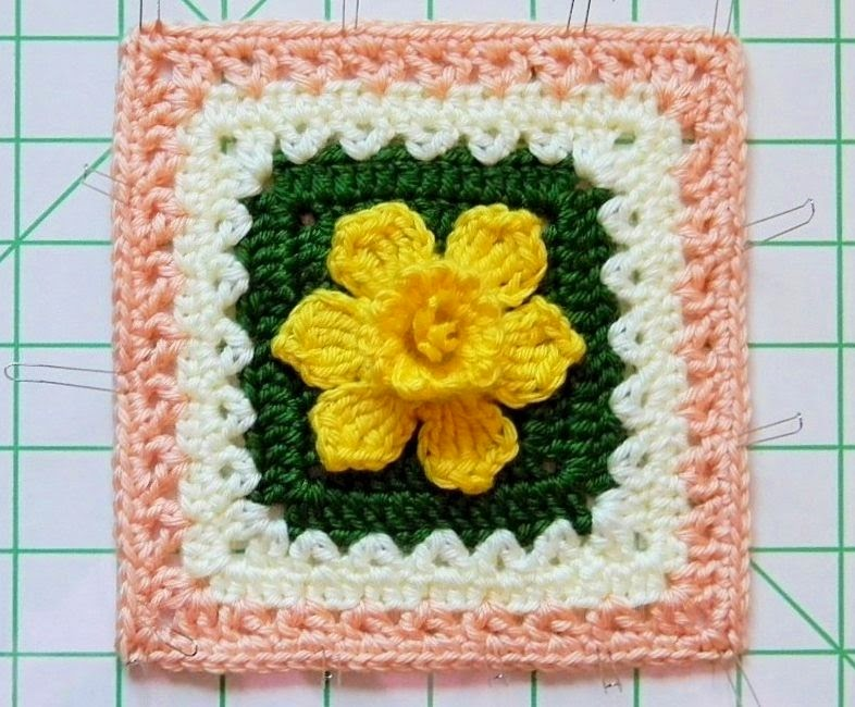Crochet Daffodil Granny Square Free Pattern ~ Pakbit for .
