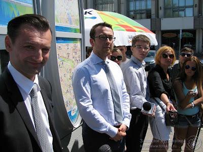 Оскар Прокопьев и Сергей Дубков дают интервью