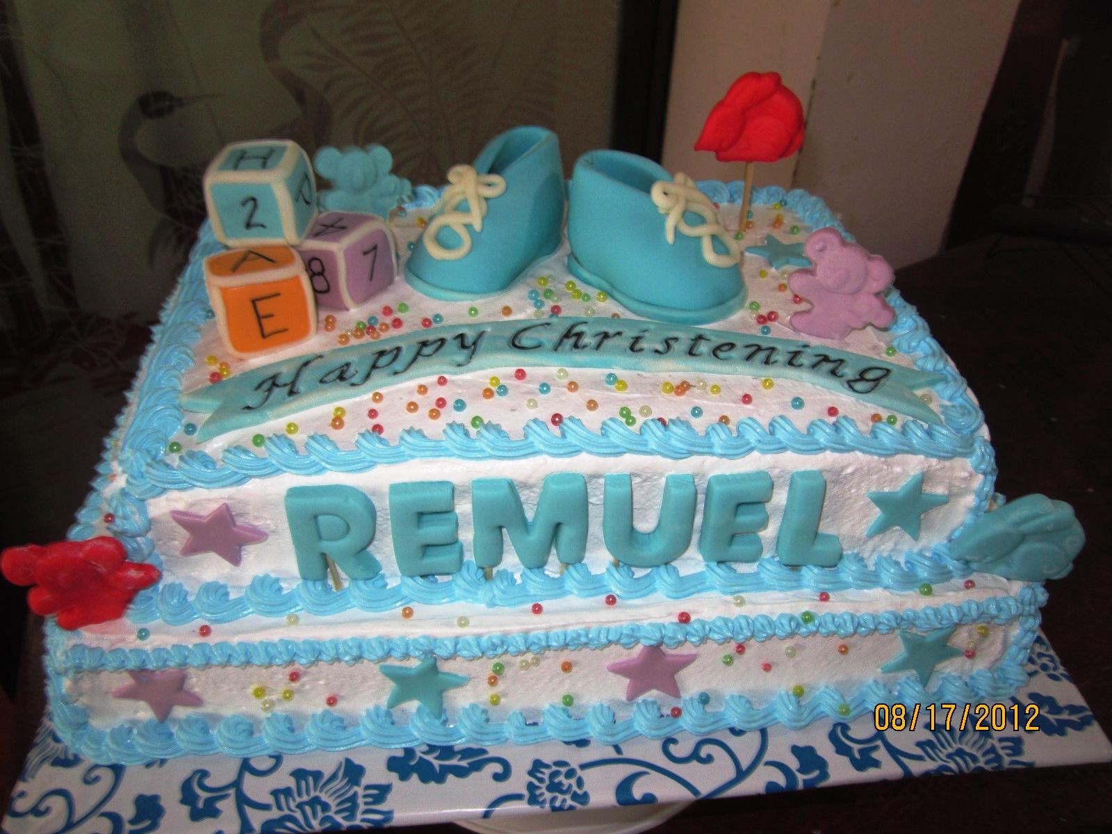Goldilocks Christening Cake For Baby Boy