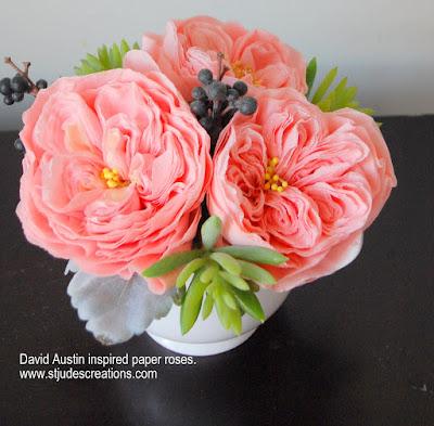 vintage wedding bouquet david austin roses