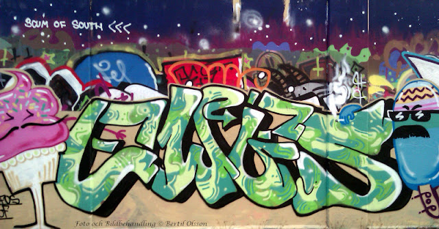 Graffiti Skaragatan Willys Helsingborg