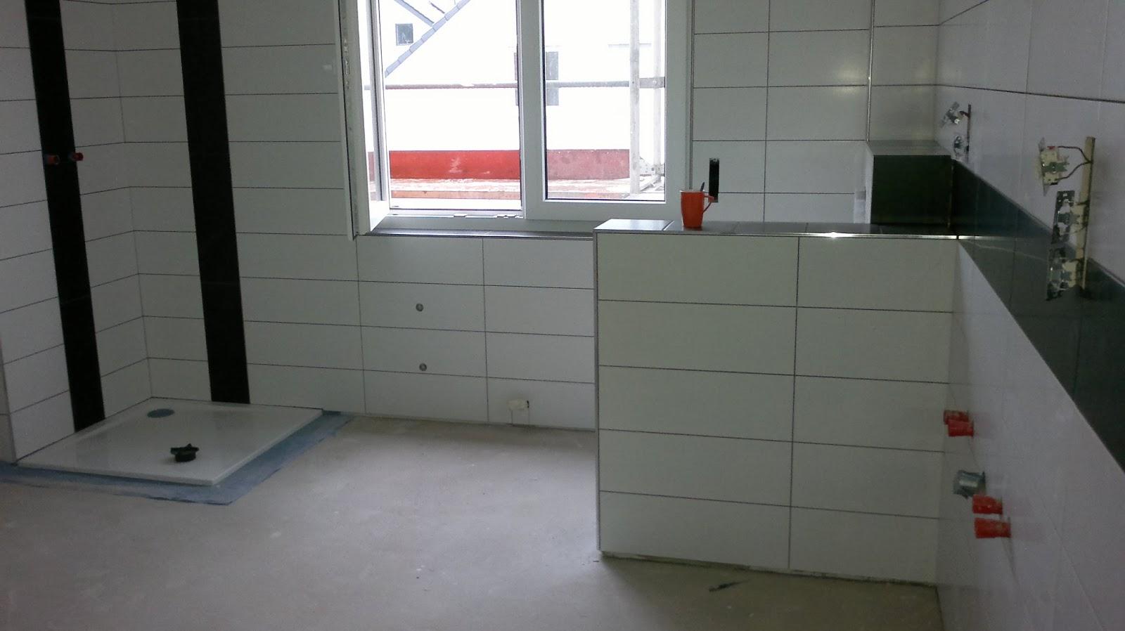 Bautagebuch eines einfamilienhauses in dortmund for Wandfliesen bad