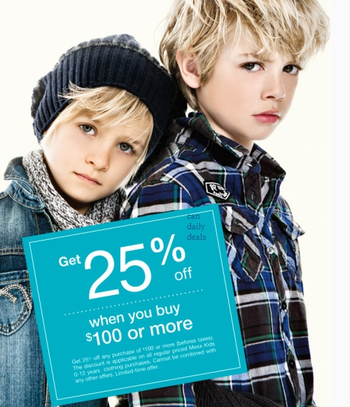 Mexx Kids Get 25 Off 100 Purchase Or More