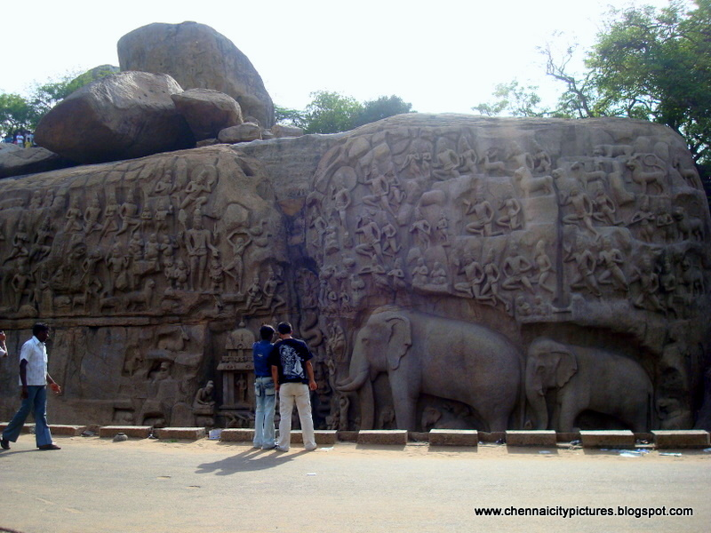 Chennai city pictures mahabalipuram stone carvings
