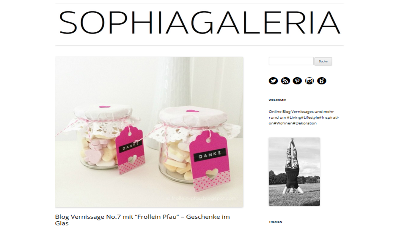 Blogvernissage, Sophiagaleria, Frollein Pfau, Geschenk im Glas, Blogfreunde