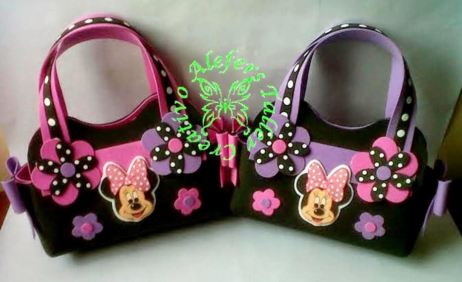 Bolsos de mano en foami Minnie Mouse