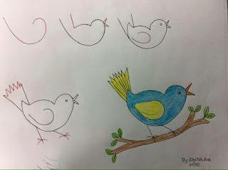 رسم لطائر