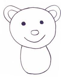 как нарисовать медвежонка тедди
