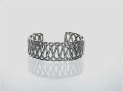 majestical lace silver cuff