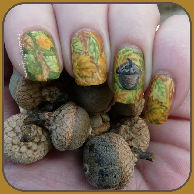 autumn-fall-nail-art-nailart-leaves-acorn