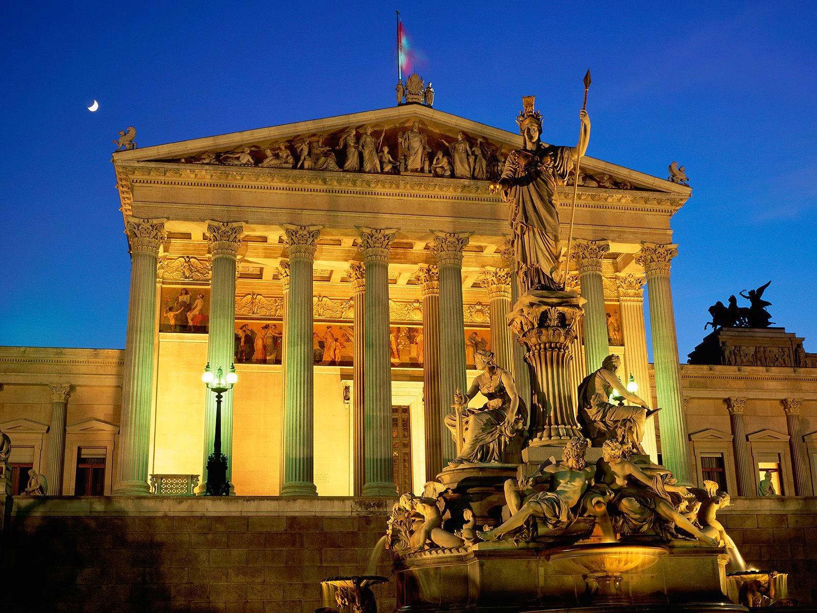 pics,Vienna_Austria_Pallas_Athene_Fountain_Parliament_Building