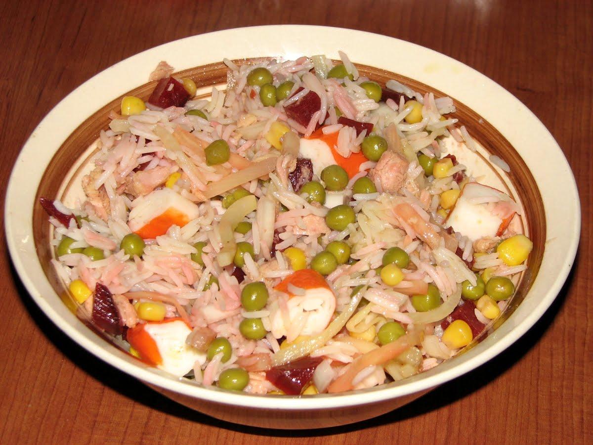 Corderete ensalada de arroz con at n - Ensalada de arroz y atun ...