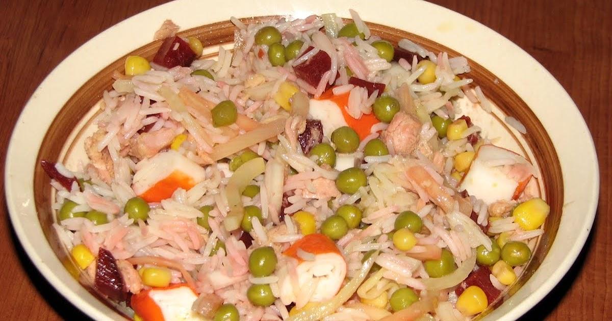 Corderete ensalada de arroz con at n - Ensalada de arroz con atun ...