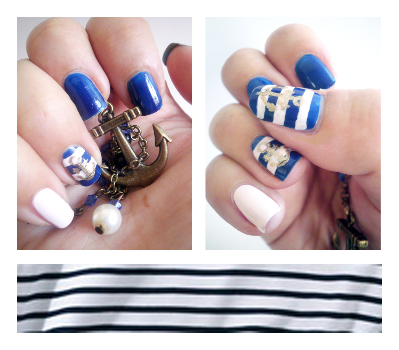 Déco ongles marin