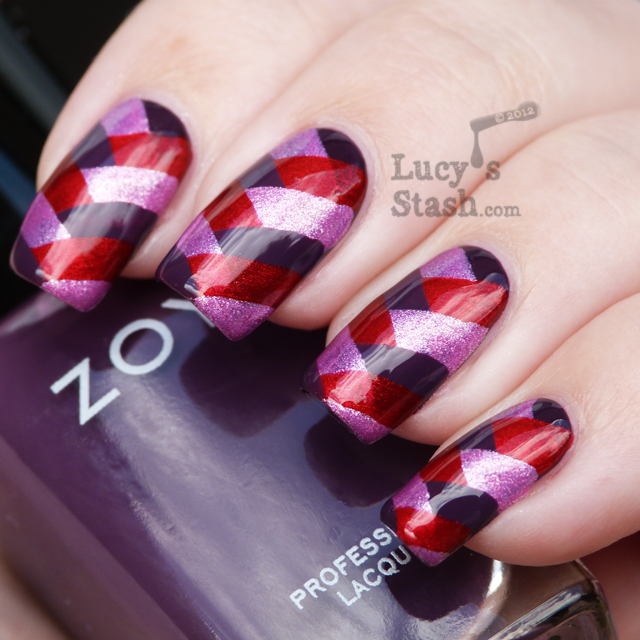 Lucy's Stash - Fishtail braid manicure