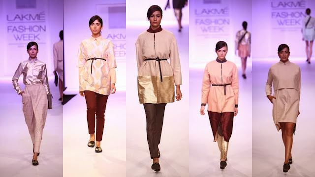 Models in Niksha Lulla at Lakme Fashion Week 2013
