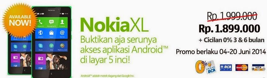 Nokia XL Harga Rp 1.899.000 di SentraPonsel
