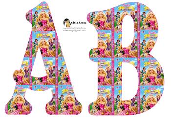 Alfabeto de Barbie Escuela de Princesas.