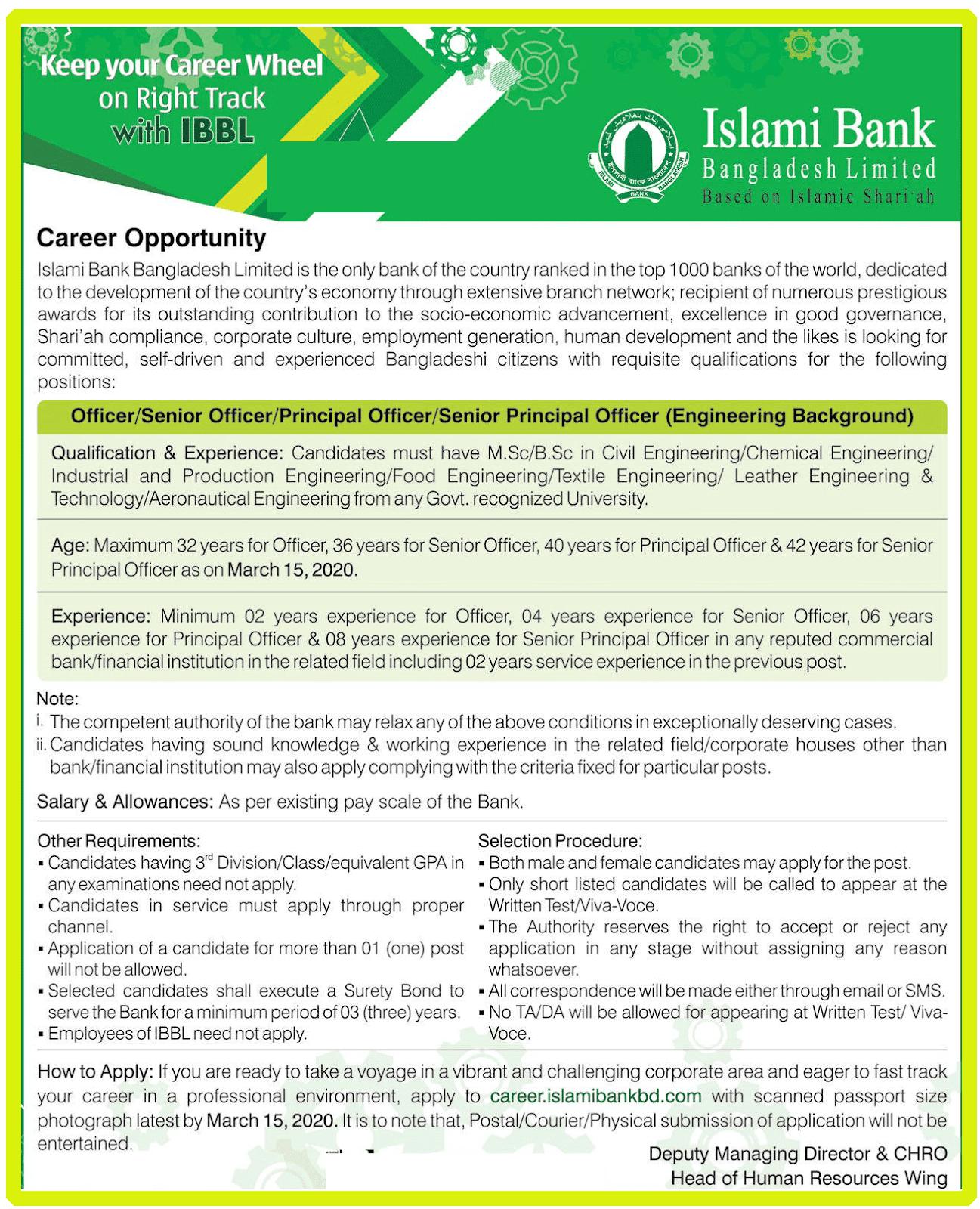 Islami Bank Bangladesh Ltd Job Circular 2020