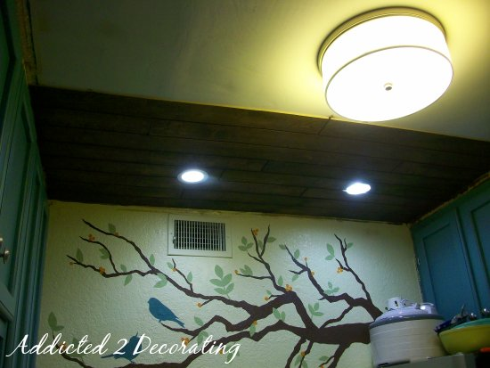 my kitchen ceiling and an exercise in democratic decorating