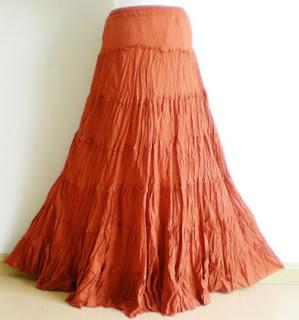 orange Peasant skirt