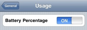 How to show iPhone Battery Percentage Meter