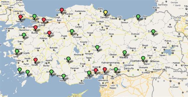 türkiyedeki karasal tv yayını yapan vericiler