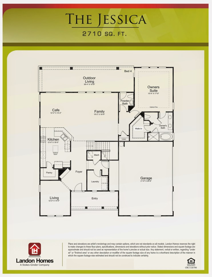 Landon homes featuring the jessica floor plan benton for Landon homes floor plans