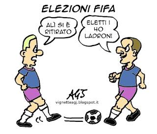 Blatter, FIFA, vignetta, satira