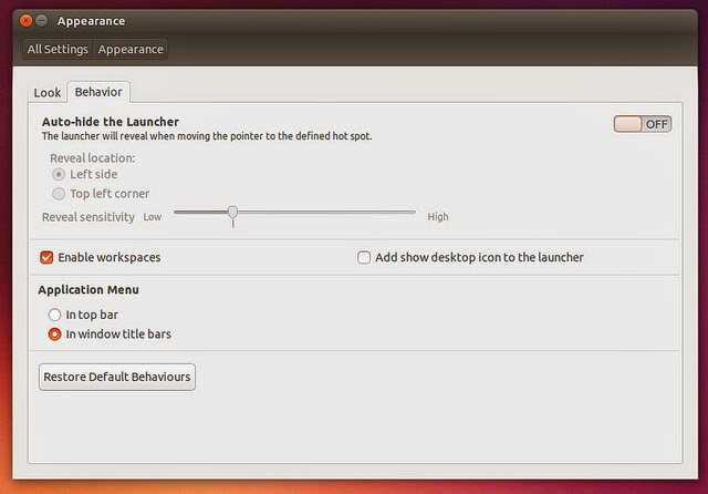 no global menu in ubuntu 14.04