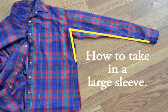 Tutorial on how to take in large sleeves for a slimmer fit in minutes.