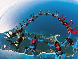 Sky diving rame rame