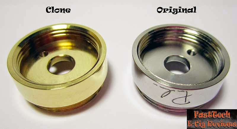 Caravela clone button venthole comparison to original caravela