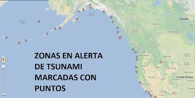 ZONAS EN ALERTA DE TSUNAMI TRAS TERREMOTO DE 7,7 GRADOS EN CANADA, 28 DE OCTUBRE 2012