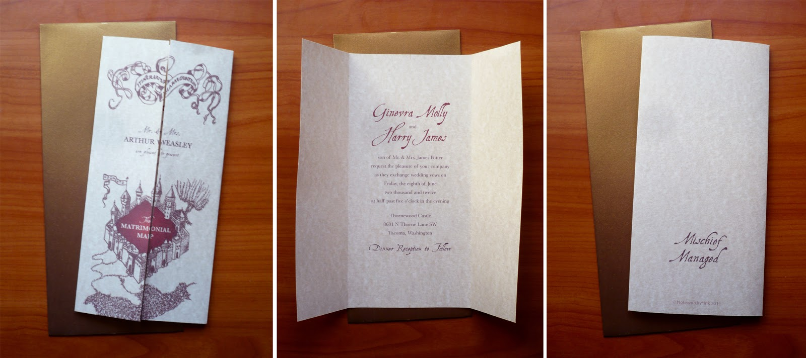noteworthy ink harry potter event stationery