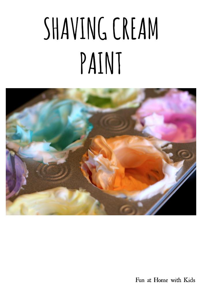 Shaving cream paint for Shaving cream paint