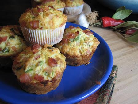 Muffini s porilukom i kuhanom šunkom