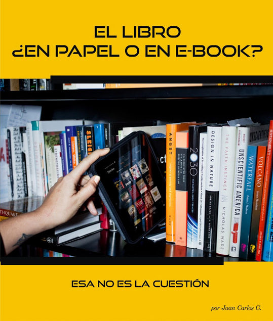 libro digital, libro en papel, e-book