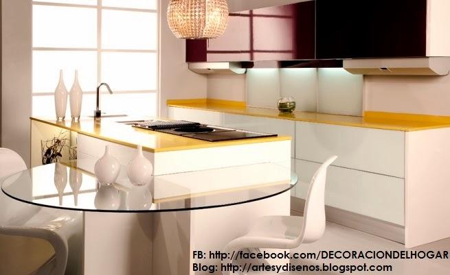 Diseño de cocinas con barras originales y funcionales : decoración ...