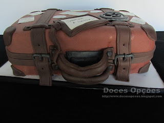 suitcase trip cake