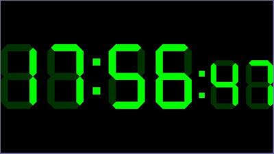 Digital Clock GreenWidget
