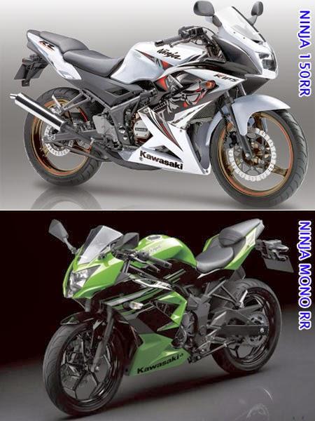 Perbandingan Ninja RR Mono vs Ninja 150RR Secara Fisik