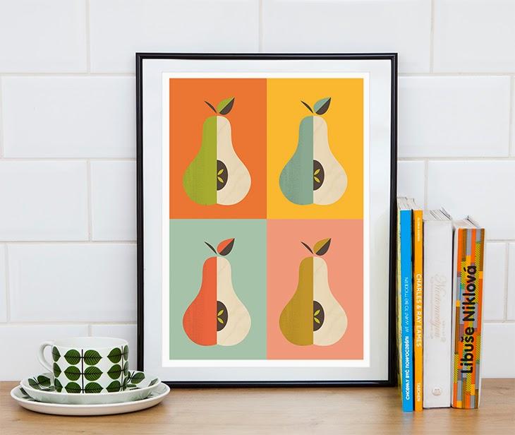 pears kitchen decor art