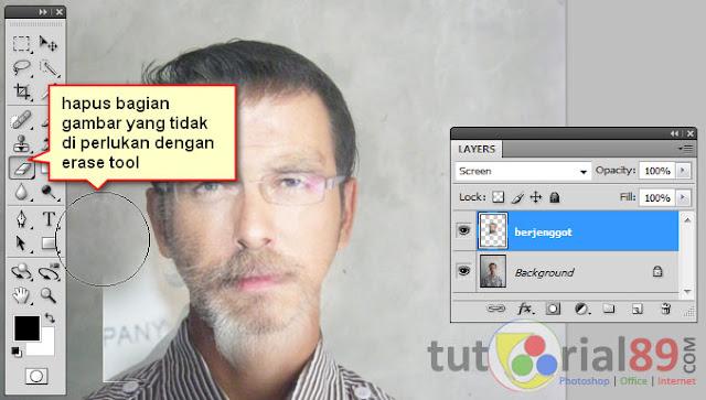 Cara cepat membuat jenggot dengan photoshop
