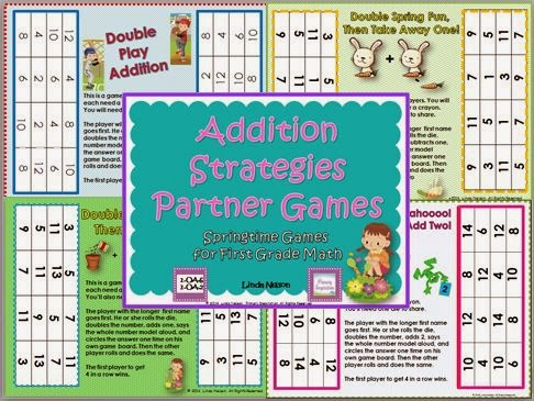 http://www.teachersnotebook.com/product/linda+n/addition-strategies-partner-games-for-spring